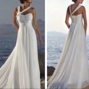 Dresses & Skirts - New wedding dress chiffon beach style summer